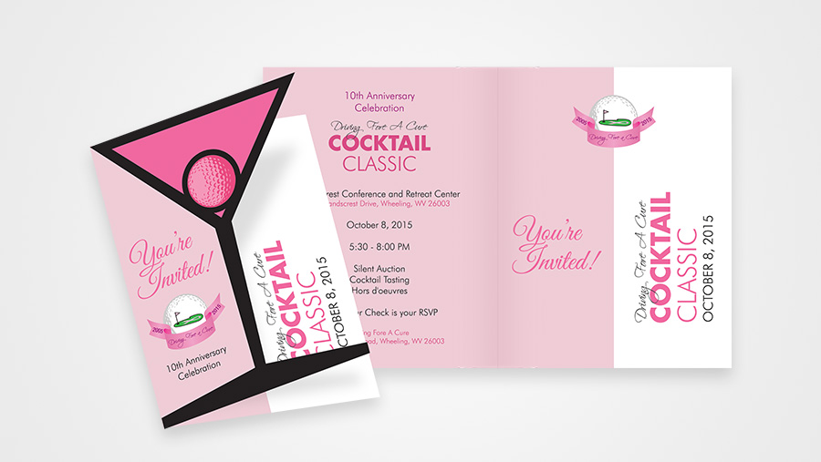 Driving Fore A Cure Invitation