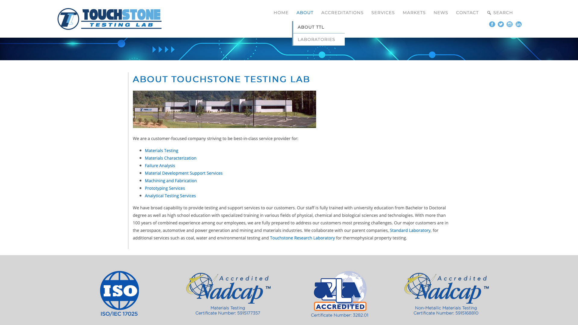 Touchstone Testing